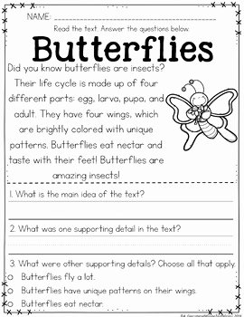 Main Idea Worksheet 4 Lovely Main Idea Passages Spring by Missing tooth Grins