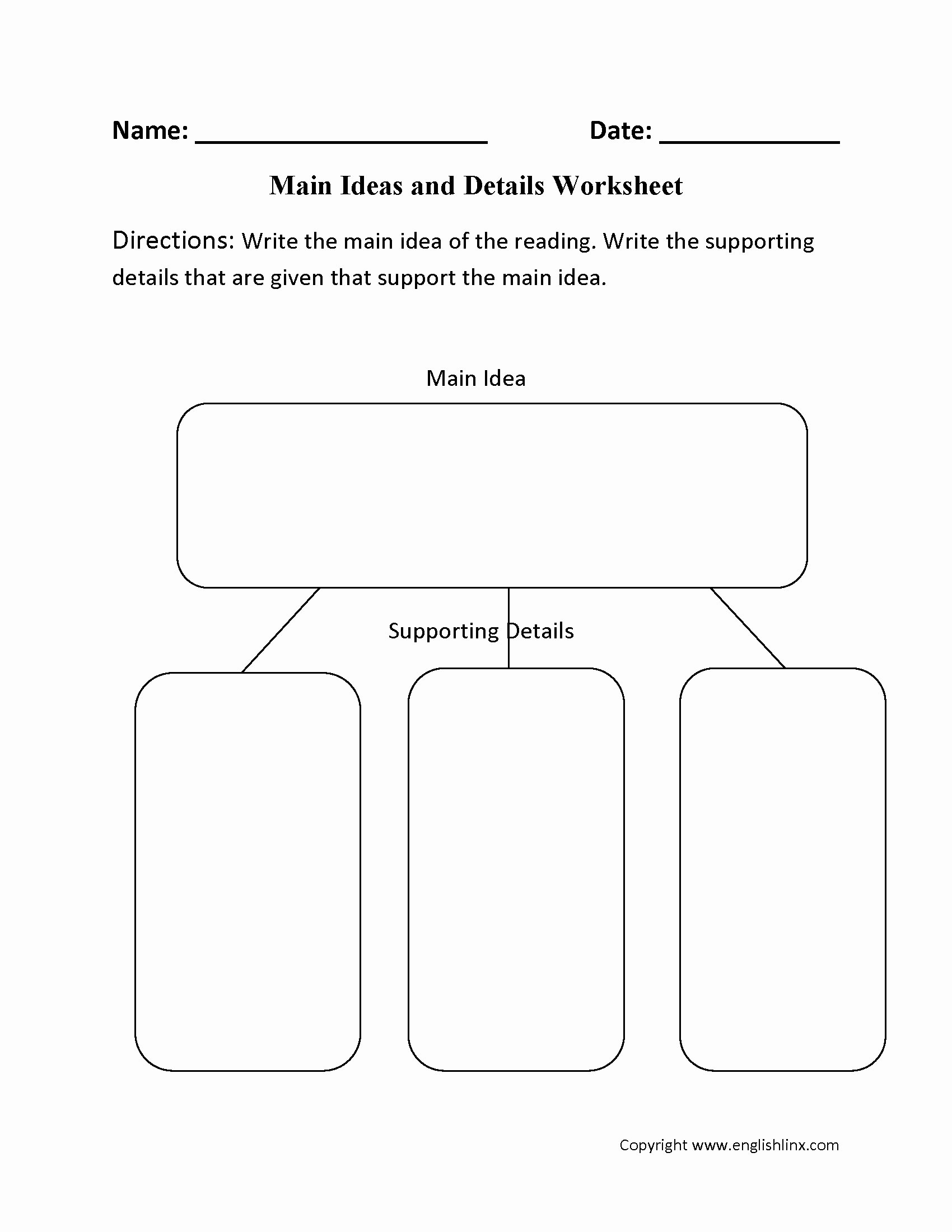 Main Idea Worksheet 4 New 10 Famous Main Idea Passages 4th Grade 2019