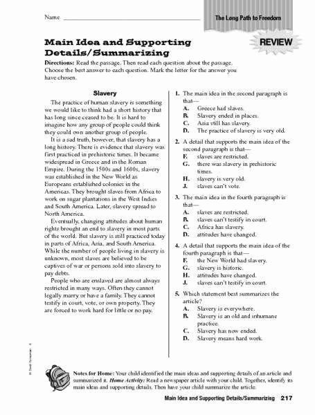 Main Idea Worksheet 4th Grade Fresh Finding the Main Idea Worksheets