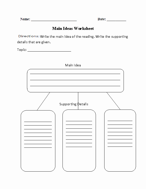 Main Idea Worksheet 4th Grade Lovely Reading Prehension Worksheets
