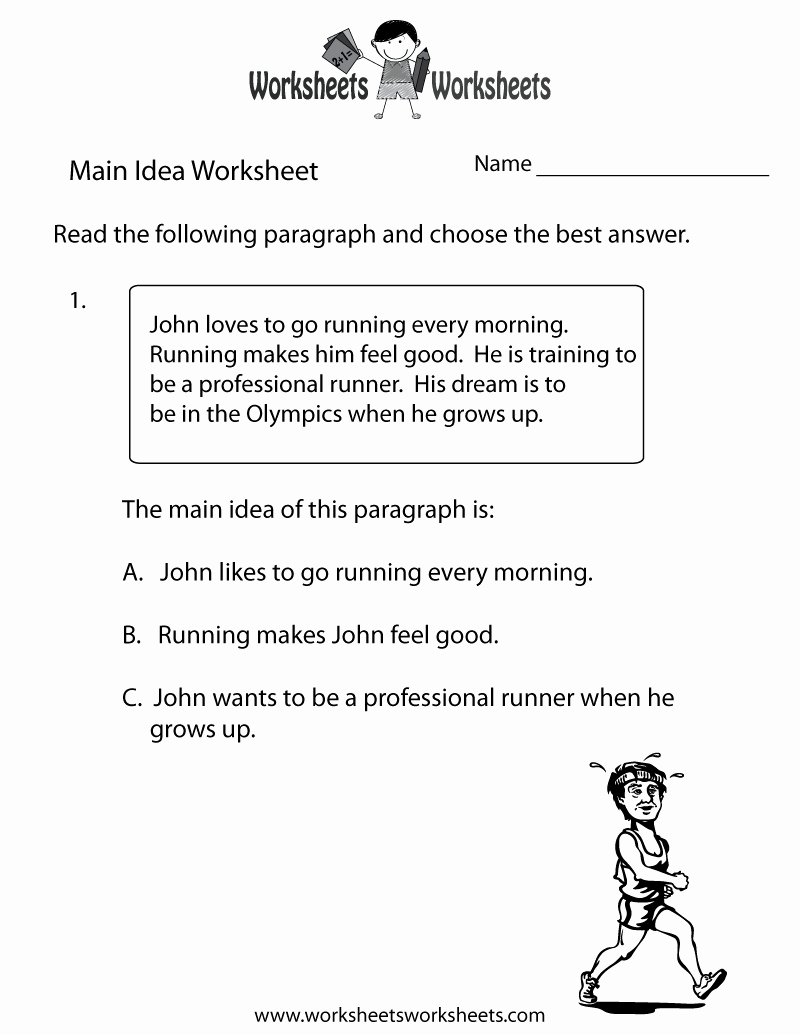 Main Idea Worksheet 4th Grade Luxury 17 Best Of Main Idea Worksheets for 4th Grade