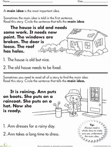 Main Idea Worksheet 4th Grade Luxury Main Idea Worksheets and Prehension On Pinterest
