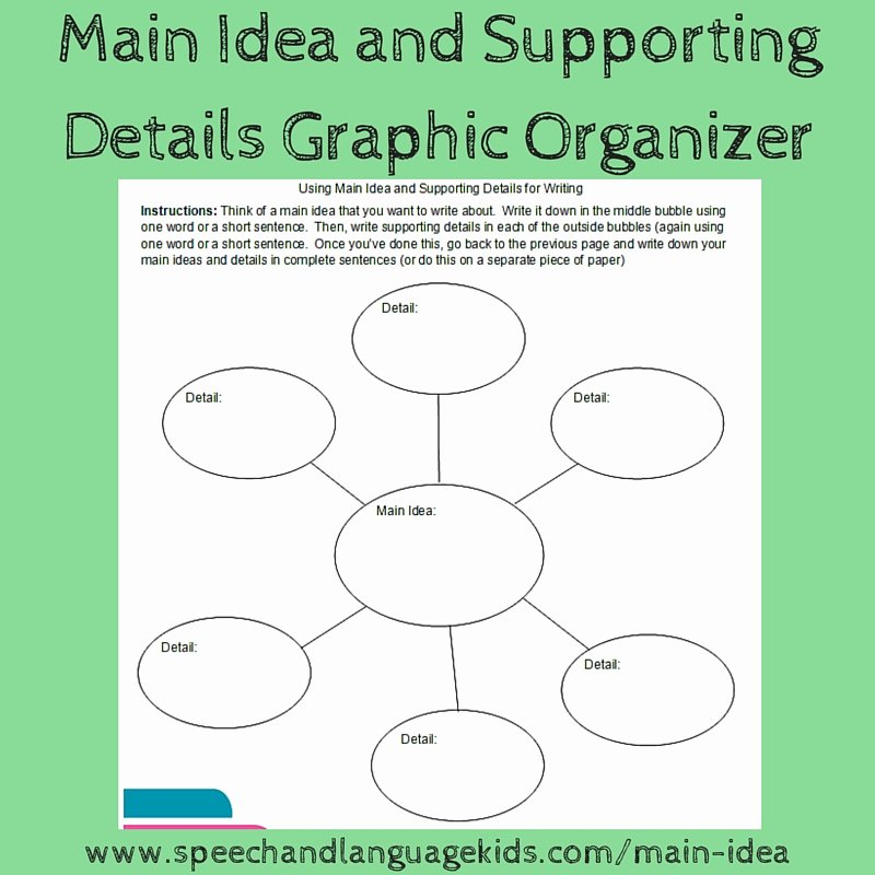 Main Idea Worksheet 5 Beautiful Helping Children to Identify Main Ideas and Supporting