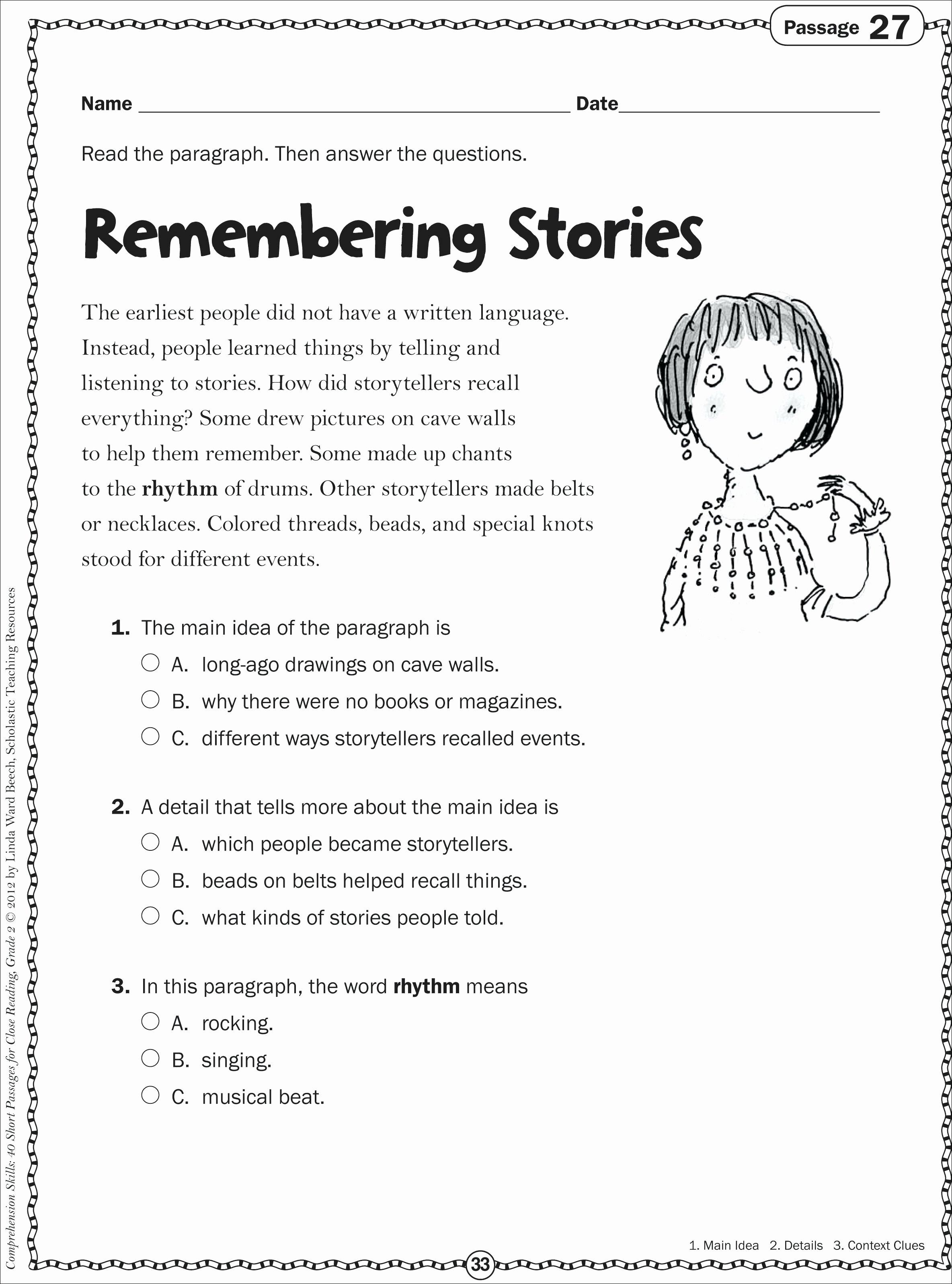 Main Idea Worksheet 5 Inspirational 10 Stunning 5th Grade Main Idea Worksheets 2019