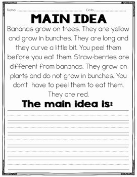 Main Idea Worksheet 5 Lovely Main Idea and Details Practice Mon Core by Read Like