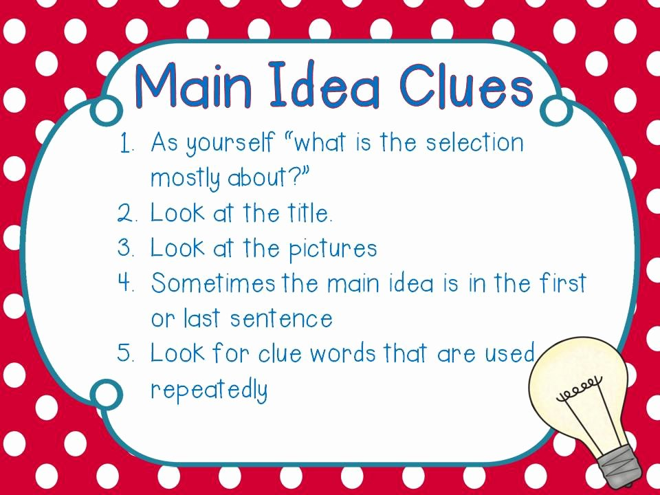 Main Idea Worksheet 5 Luxury tonya S Treats for Teachers What S the Big Idea