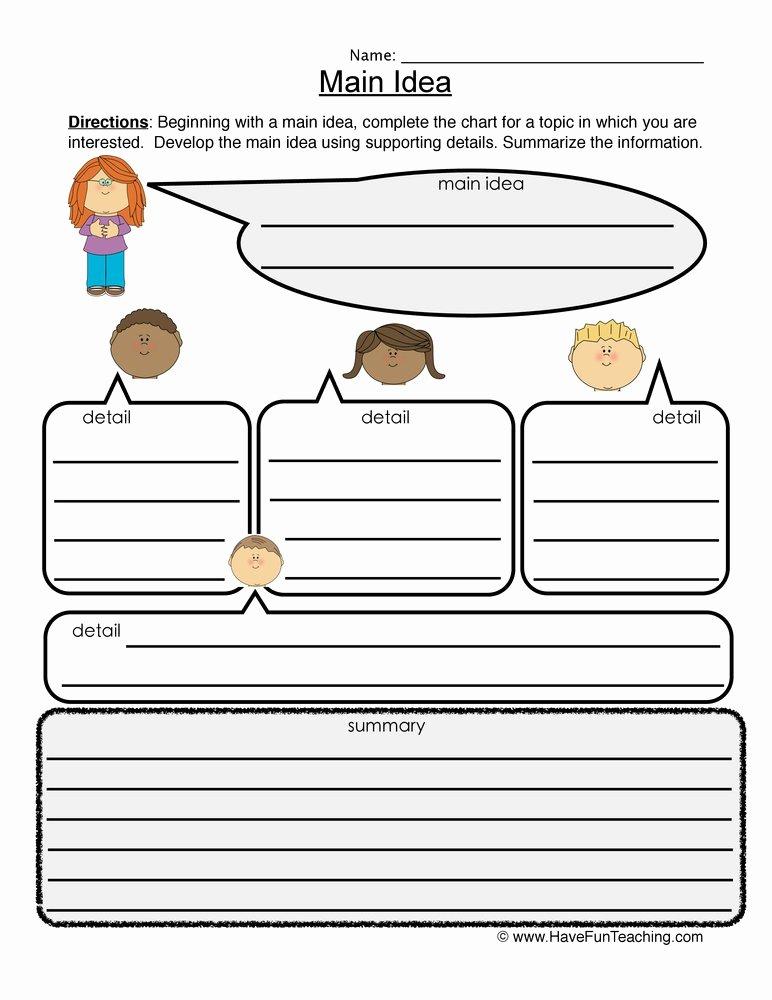 Main Idea Worksheet 5 New Summarizing Worksheets