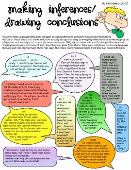 Making Conclusions Geometry Worksheet Answers Beautiful Making Inferences Role Play Activity by Mia Mcdaniel