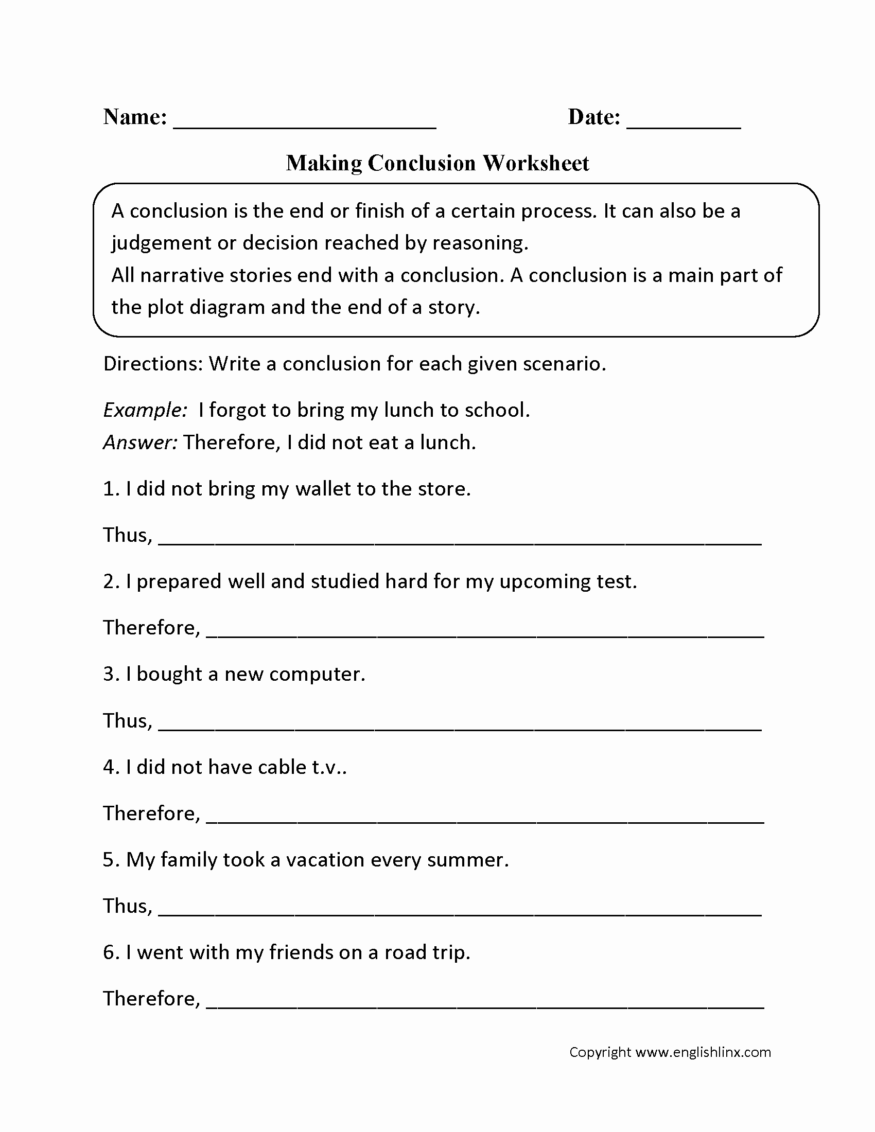 Making Conclusions Geometry Worksheet Answers Inspirational 9th Grade Writing Prompts Worksheets the Best Worksheets