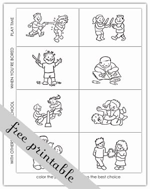 Making Good Choices Worksheet Beautiful Making Good Choices Activity Sheets