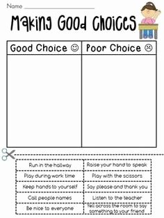 Making Good Choices Worksheet Best Of 1000 Images About Negative Oppositional Behaviors On