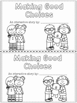Making Good Choices Worksheet Best Of Making Good Choices Interactive Reader School Rules by