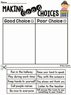 Making Good Choices Worksheet Best Of Miss Giraffe S Class How to Tackle Tattling In the Classroom