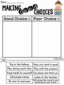 Making Good Choices Worksheet Best Of Pinterest • the World's Catalog Of Ideas