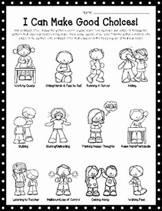 "Making Good Choices Worksheet Best Of ""i Can Make Good Choices "" Worksheet Perfect for Back to"