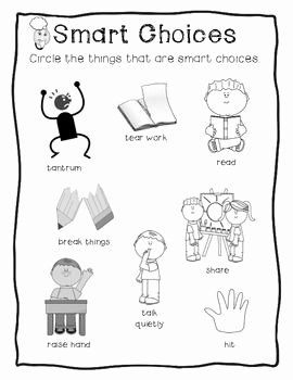 Making Good Choices Worksheet Inspirational Making Smart Choices Resources to Help Students Deal