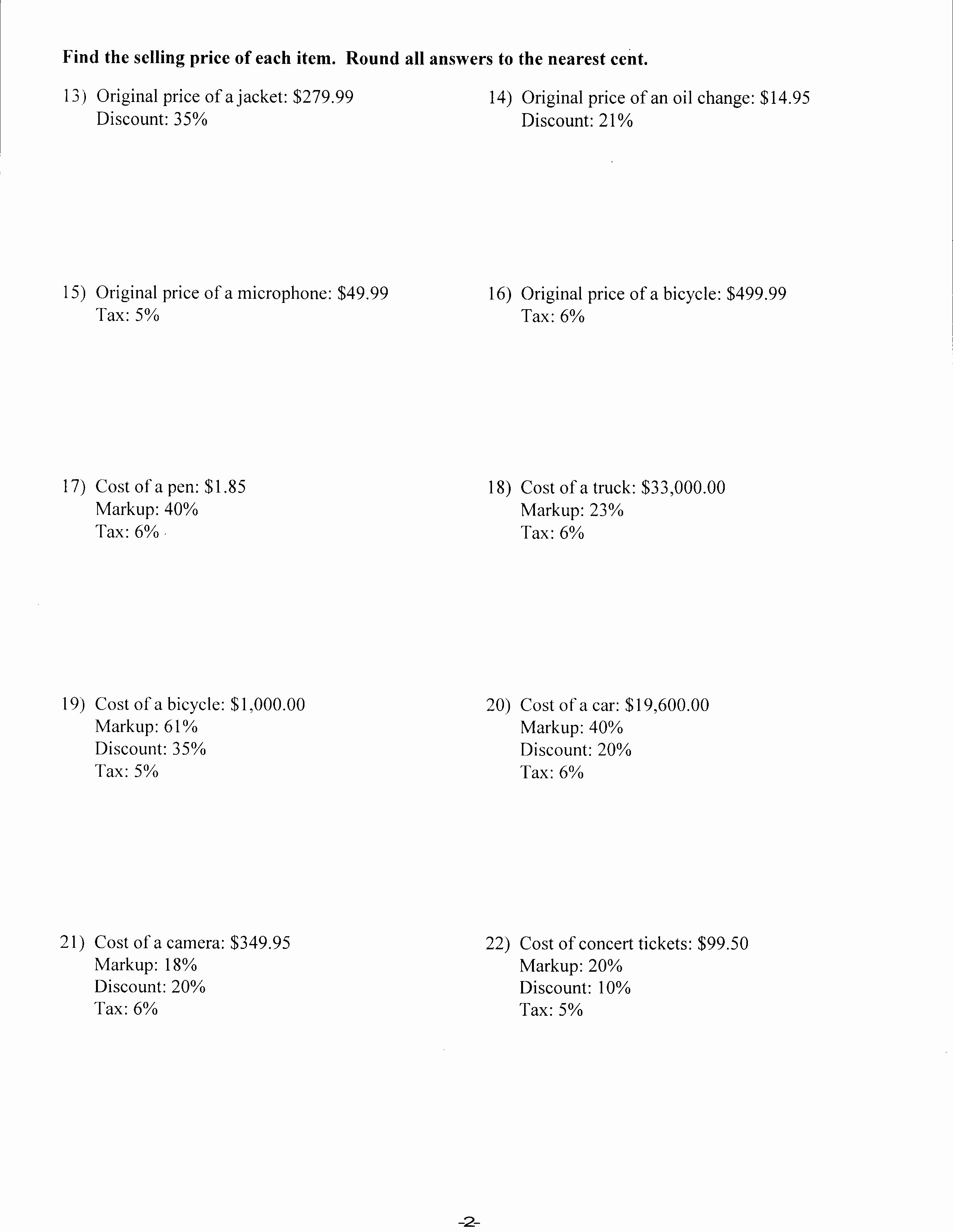 Markup and Discount Worksheet Beautiful Worksheets Mrs Lay S Webpage 2011 12