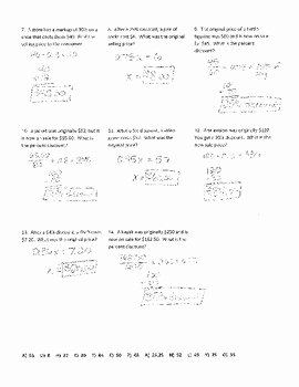 Markup and Discount Worksheet Lovely Discounts and Markups Joke Worksheet with Answer Key by
