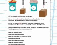 Mass and Weight Worksheet Inspirational Mass In Maths and Science Defined for Primary School