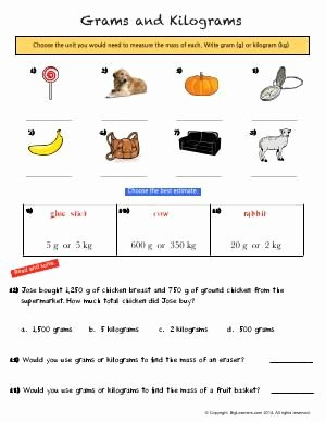 Mass and Weight Worksheet New Worksheet Grams and Kilograms