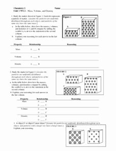 Mass Volume Density Worksheet Beautiful Mass Volume and Density 6th 10th Grade Worksheet