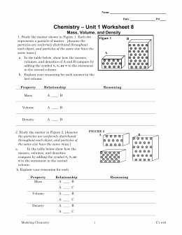 Mass Volume Density Worksheet Lovely Mass Volume and Density