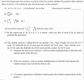 Matrices Word Problems Worksheet Beautiful Matrix Multiplication Worksheet 20 Problems Variables and
