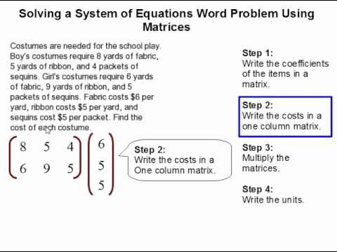 Matrices Word Problems Worksheet New How to solve A System Of Equations Word Problem Using