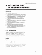 Matrices Word Problems Worksheet Unique Matrices and Transformations 10th 12th Grade Worksheet