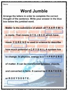Matter and Energy Worksheet Beautiful Matter and Energy Facts Worksheets & Information for Kids