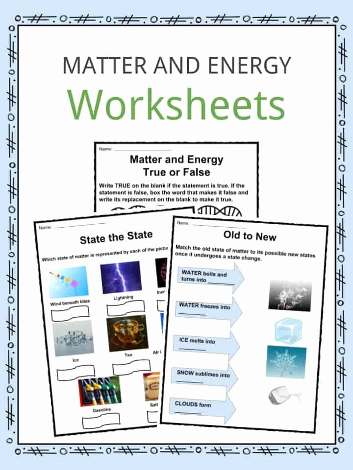 Matter and Energy Worksheet Unique Matter and Energy Facts Worksheets & Information for Kids