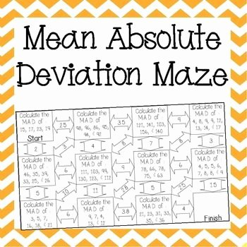 Mean Absolute Deviation Worksheet Best Of Mean Absolute Deviation Maze School Ideas