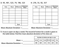 Mean Absolute Deviation Worksheet Elegant Mean Absolute Deviation Worksheets