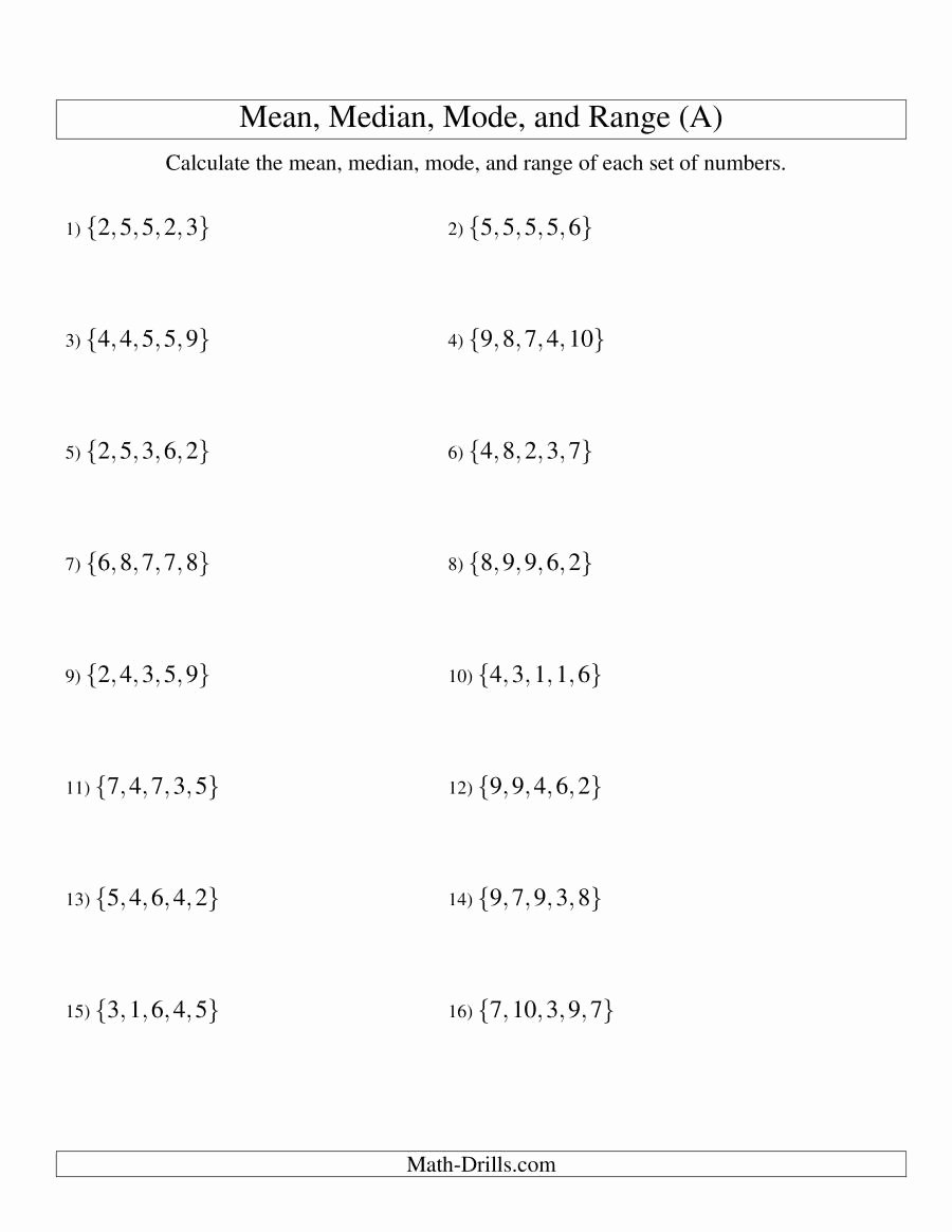 Mean Absolute Deviation Worksheet Elegant Standard Deviation Worksheet