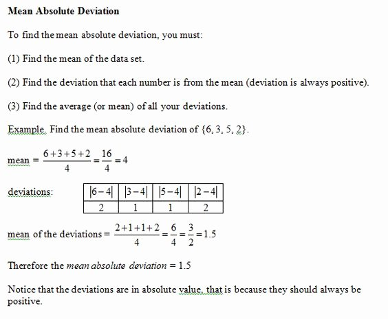 Mean Absolute Deviation Worksheet Inspirational Info On Mean Absolute Deviation