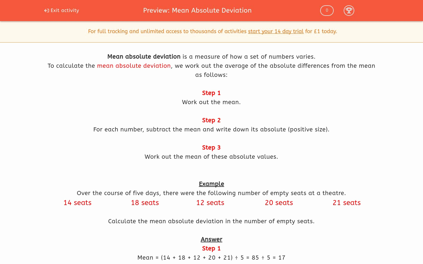 Mean Absolute Deviation Worksheet Lovely Mean Absolute Deviation Worksheet Edplace