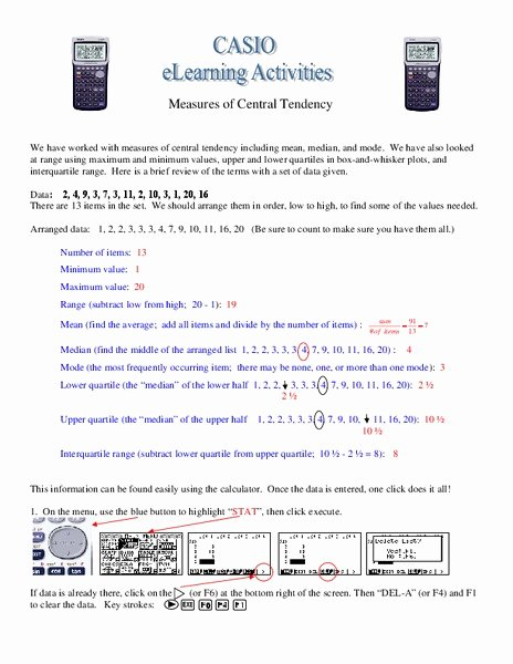Measure Of Central Tendency Worksheet Best Of Measures Of Central Tendency Worksheet for 8th 9th Grade