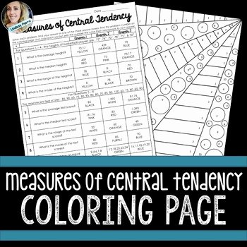 Measure Of Central Tendency Worksheet Fresh Measures Of Central Tendency Coloring Activity by Lindsay
