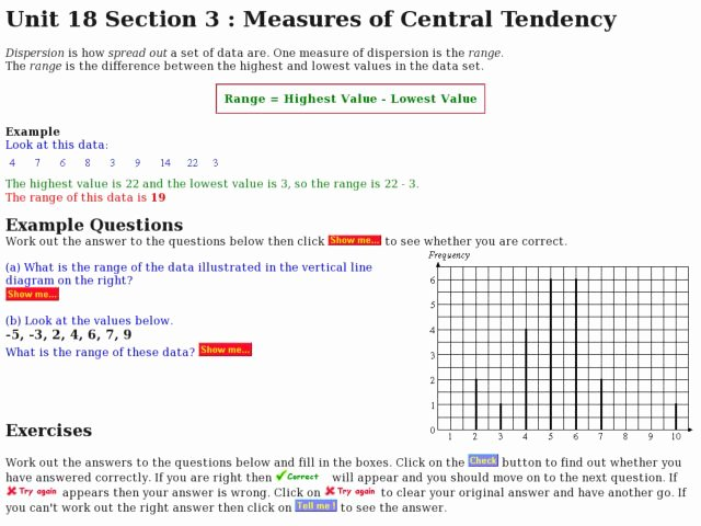 Measure Of Central Tendency Worksheet Inspirational Measures Of Central Tendency Range Worksheet for 5th