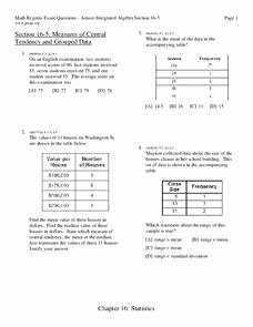 Measures Of Central Tendency Worksheet Elegant Measures Of Central Tendency Worksheet for 9th Grade