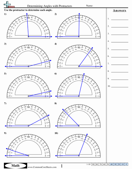 Measuring Angles Worksheet Pdf Awesome Determining Angles with Protractors Worksheet