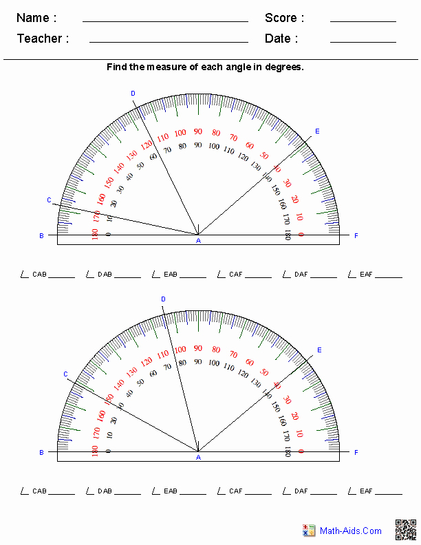Measuring Angles Worksheet Pdf Awesome Geometry Worksheets