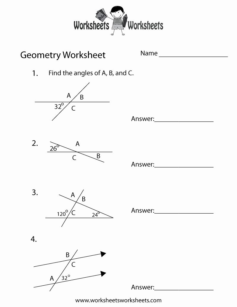 Measuring Angles Worksheet Pdf Fresh Geometry Angles Worksheet Free Printable Educational