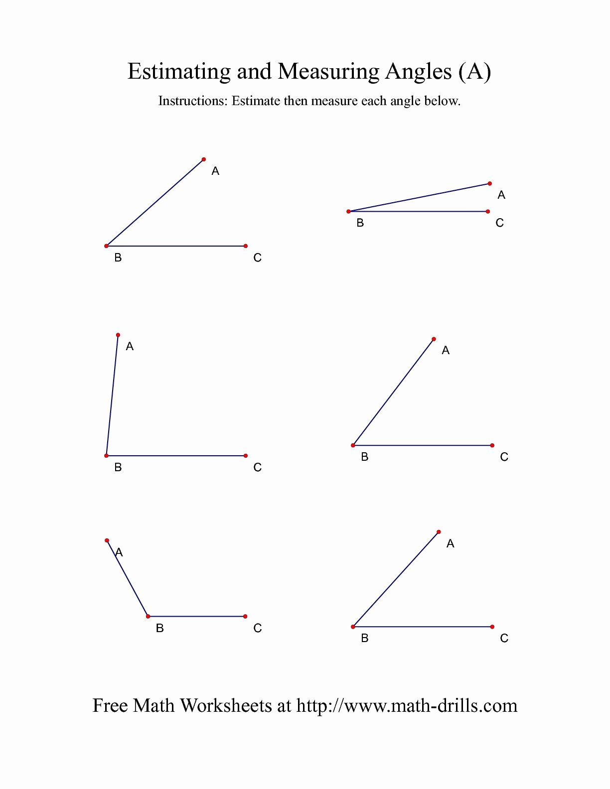 Measuring Angles Worksheet Pdf Inspirational Measuring Angles Worksheet Pdf the Best Worksheets Image