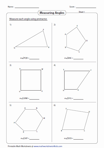 Measuring Angles Worksheet Pdf New Measuring Angles and Protractor Worksheets