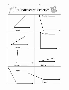 Measuring Angles Worksheet Pdf New Protractor Practice Worksheet Simple Measuring Angles