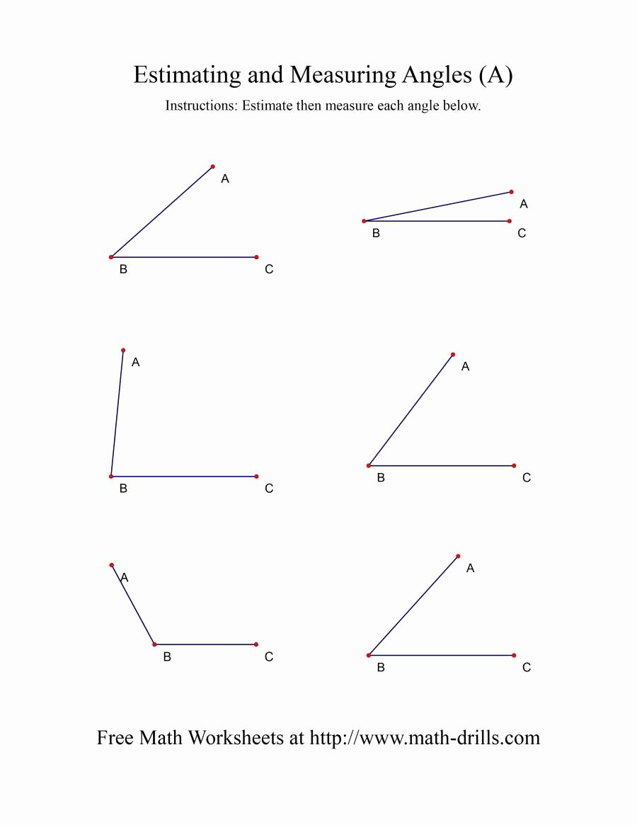 Measuring Angles Worksheet Pdf Unique Measuring Angles A