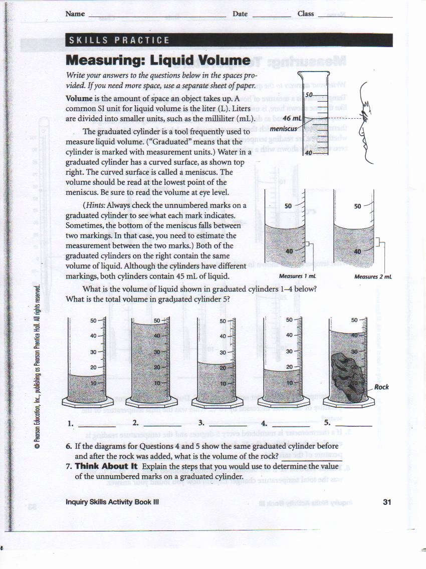 Measuring Liquid Volume Worksheet Awesome Graduated Cylinder Measuring Liquid Volume Worksheet
