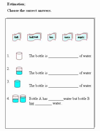 Measuring Liquid Volume Worksheet Beautiful Water Volume Measurement Liquid Volume Measurement