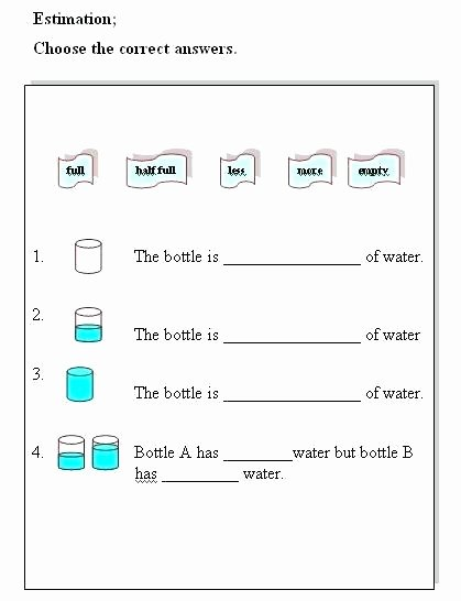 Measuring Liquid Volume Worksheet Elegant Measuring Liquid Volume Worksheet